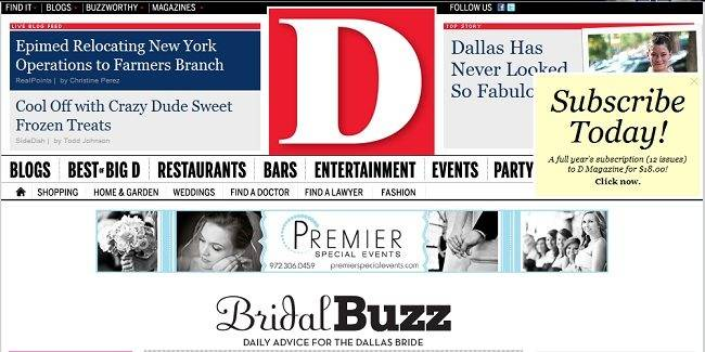 D Magazine Features Sylvie Collection in Bridal Buzz Story