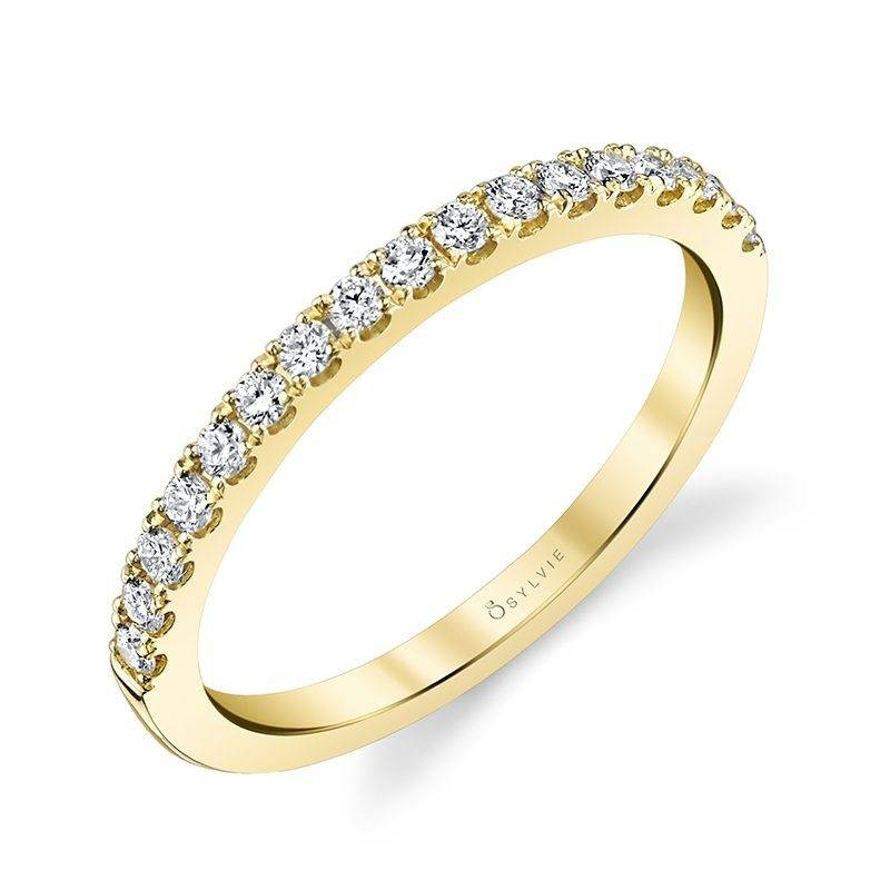 Gabrielle - Yellow Gold & Diamond Stackable Wedding Band