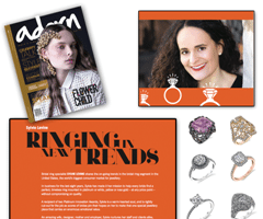 "Sylvie Levine Featured In ""Adorn"" Magazine For Today's Trends In Bridal!"