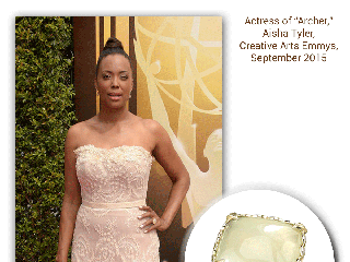 "Aisha Tyler, Actress of ""Archer,"" Wearing Sylvie's Moonstone And Diamond Fashion Ring Looks Stunning!"