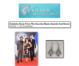 """The Centurion: Celebrity News"" Highlights Hillary Scott of Lady Antebellum Adorned With Sylvie's Diamond and Emerald Fashion Earrings!"