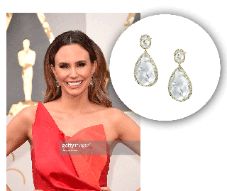 Keltie Knight Glamorizes With Crystal And Diamond Fashion Earrings From The Sylvie Collection!