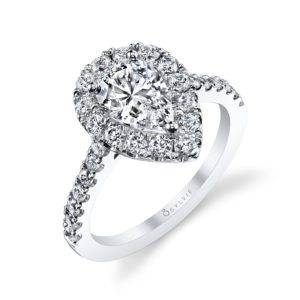 Marquise Shaped Engagement Ring - Sylvie