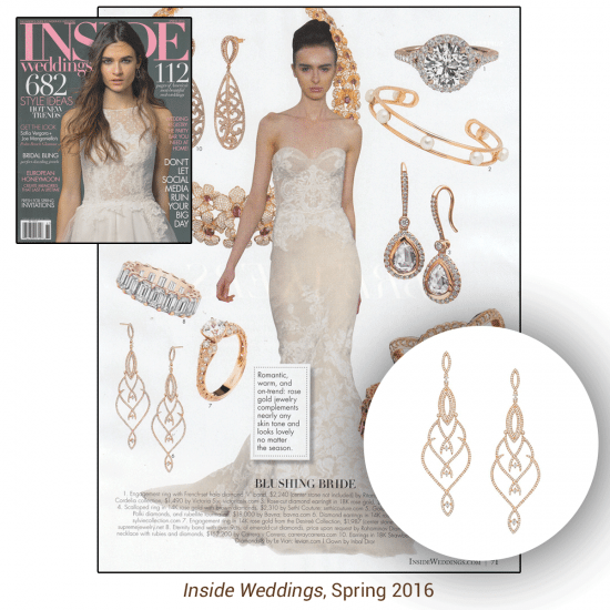 The Spring 2016 issue of Inside Weddings features the Sylvie Collection!