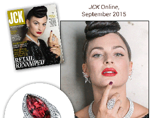 """Sylvie's Dramatic Marquise Cut Pink Tourmaline Diamond Ring Is Highlighted in """"JCK"""" Online!"""