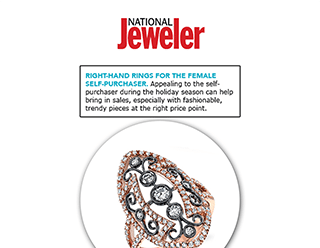 """""""National Jeweler"""" Selects Sylvie's Rose Gold Diamond Fashion Ring For Self-Purchasers!"""