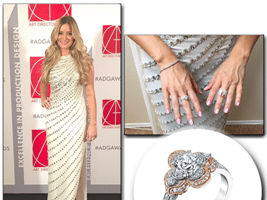 iJustine favors Sylvie's Rose and White Gold Engagement Ring