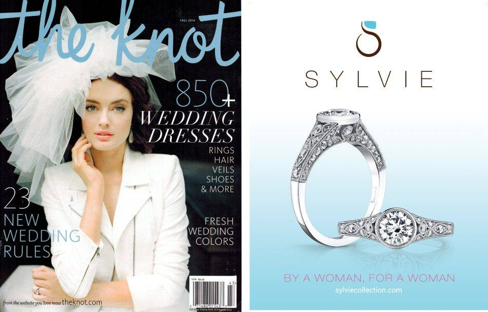 Sylvie ad featured in the Fall 2014 issue of The Knot