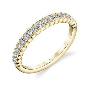Angeline - Yellow Gold Stackable Wedding Band
