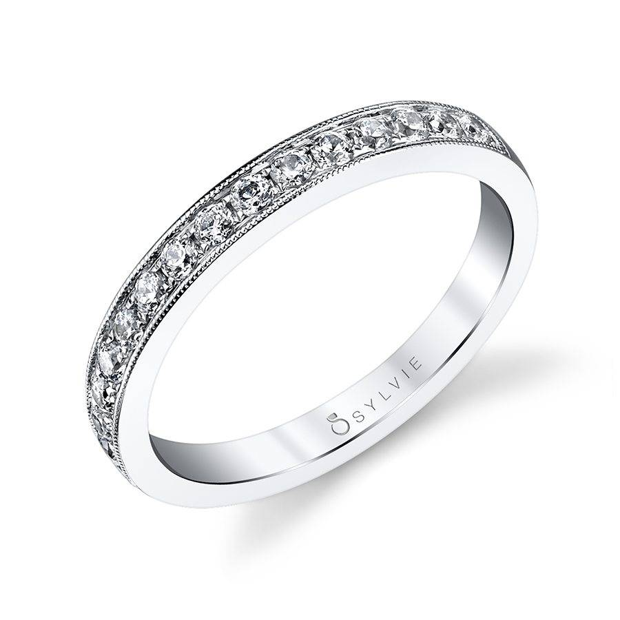 Classic Wedding Band with Milgrain Accents