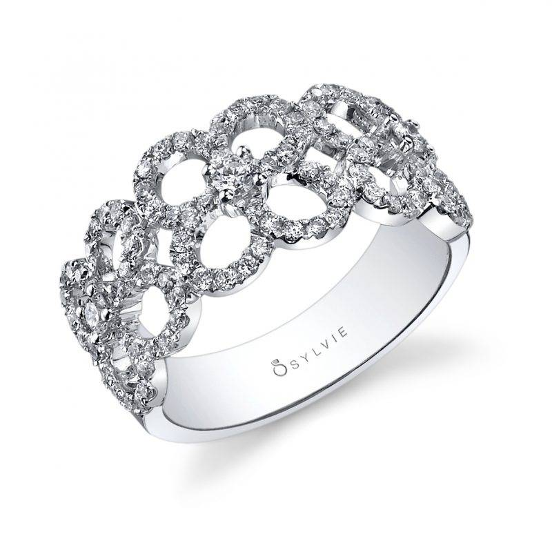 Floral Inspired Diamond Fashion Ring