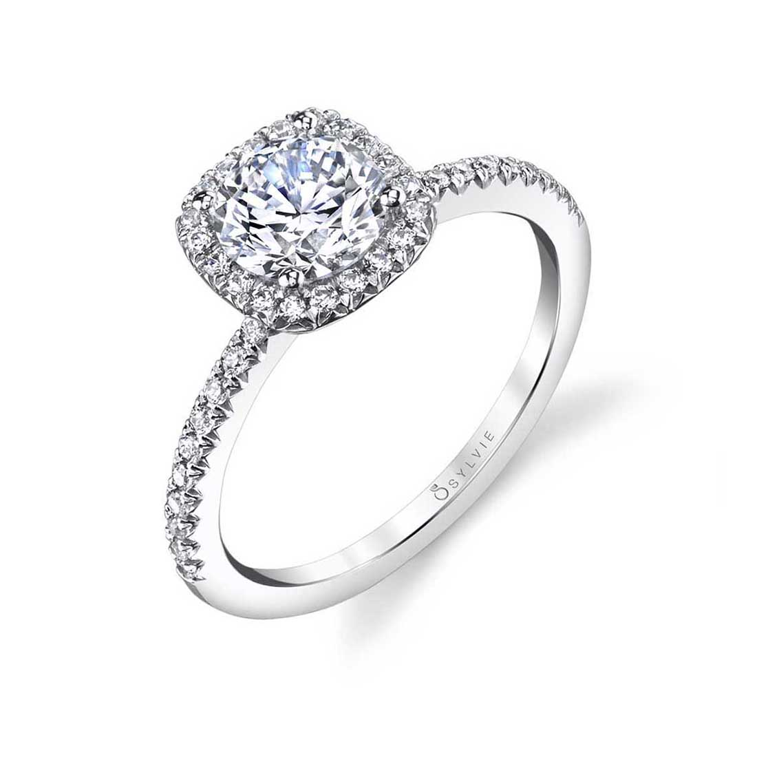 Halo Engagement Ring S1526–Sylvie