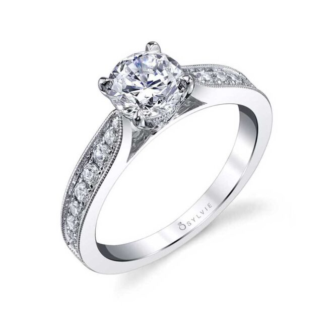 Modern Solitaire Engagement Ring S1352–Sylvie
