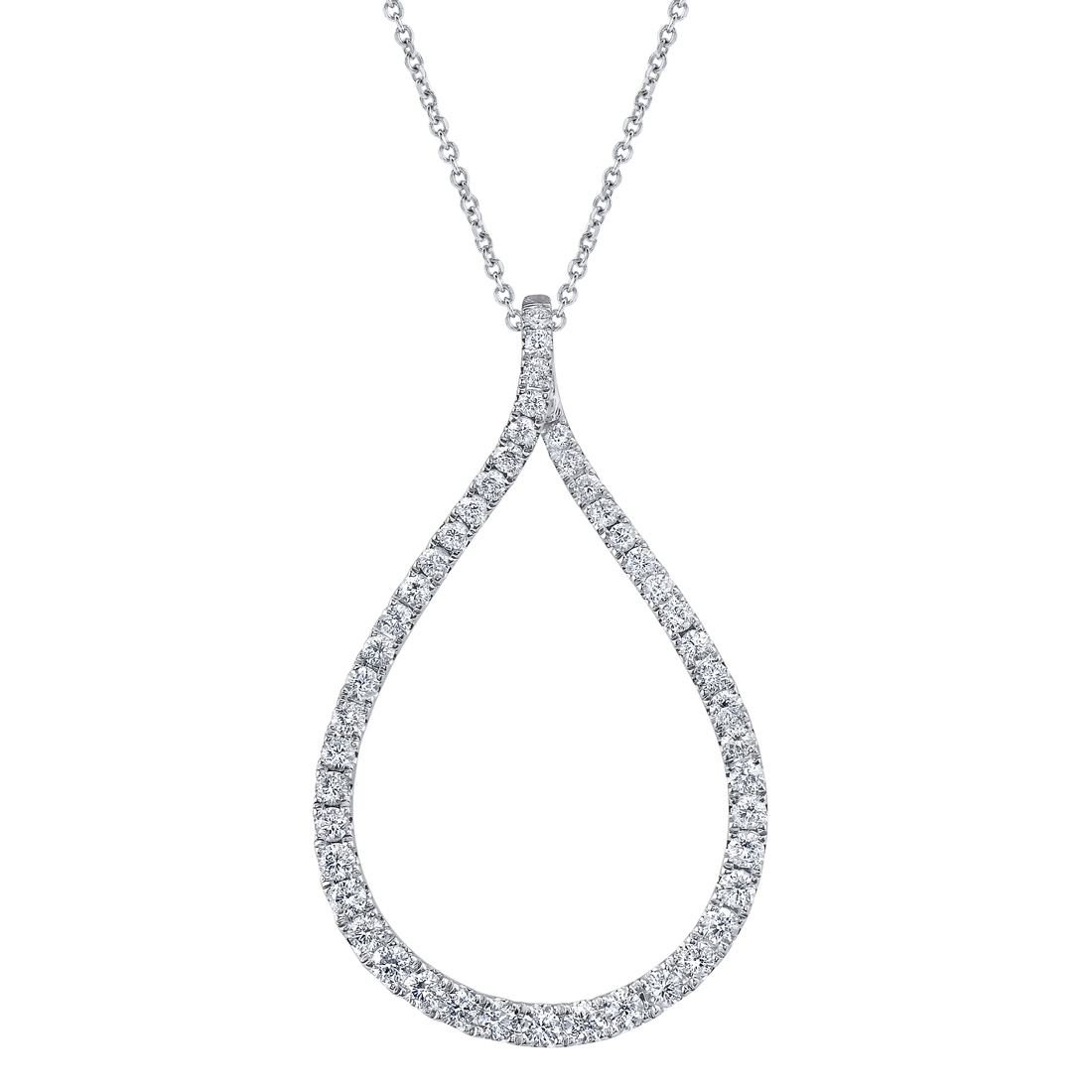 Diamond Hoop Pendant