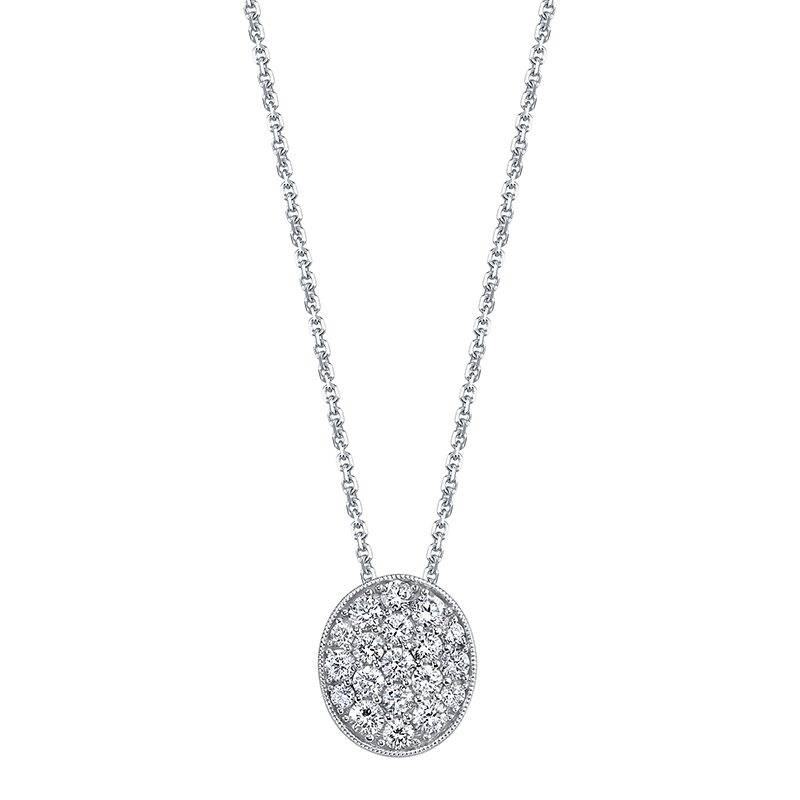 Oval Diamond Pave Pendant