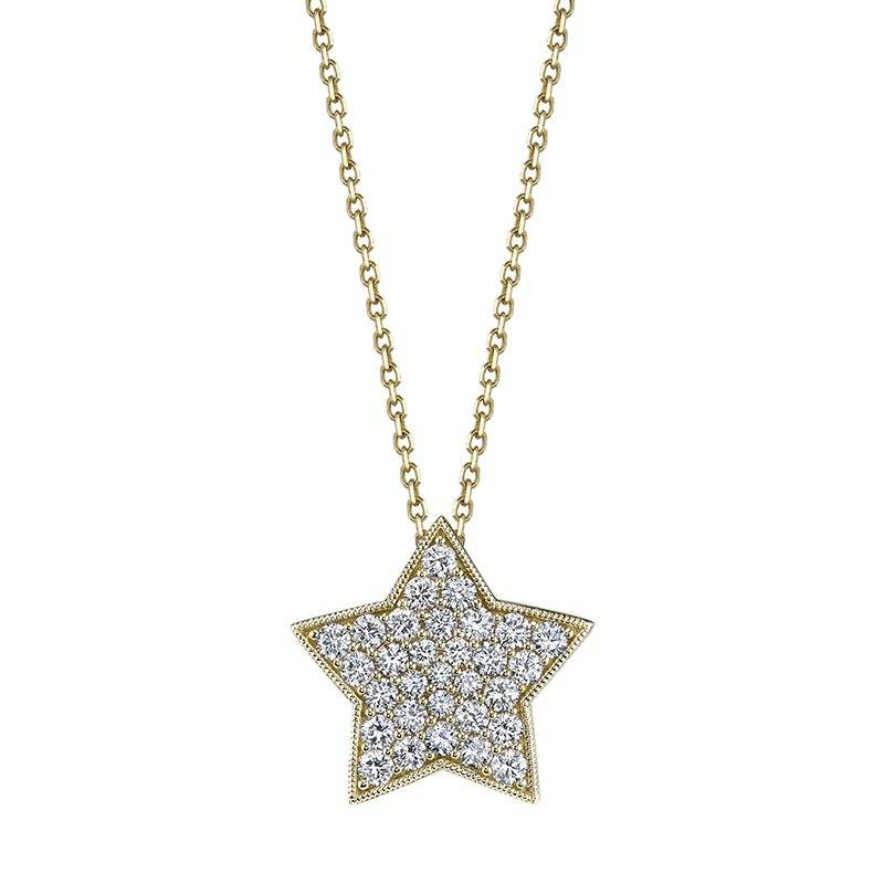Star Pendant in Yellow Gold