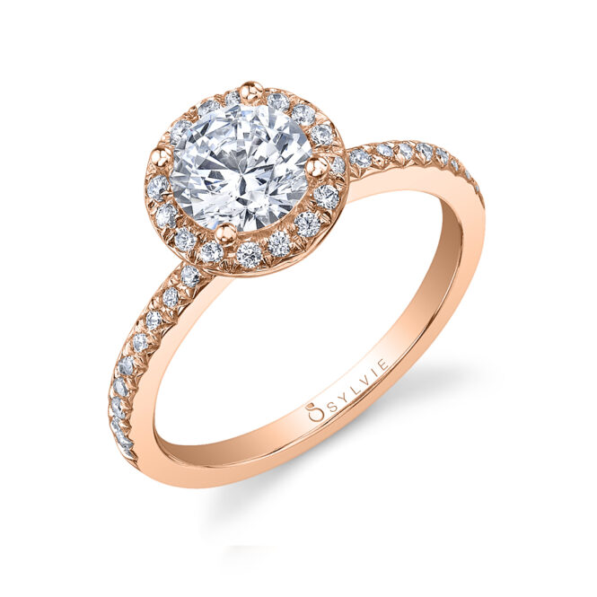 Round Halo Engagement Ring S1008-RG