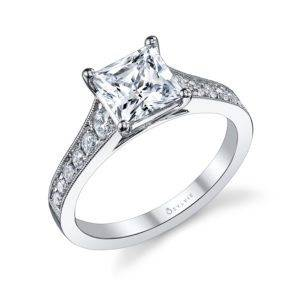 Solitaire Princess Cut Engagement Ring_S1079-040A4W15P