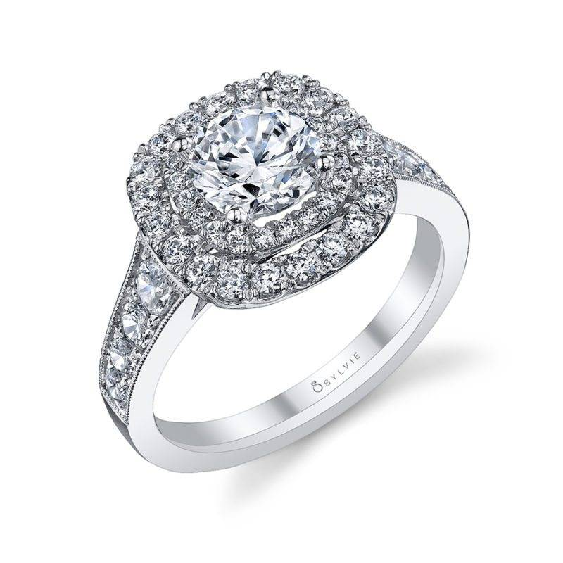 Élodie - Double Halo Engagement Ring