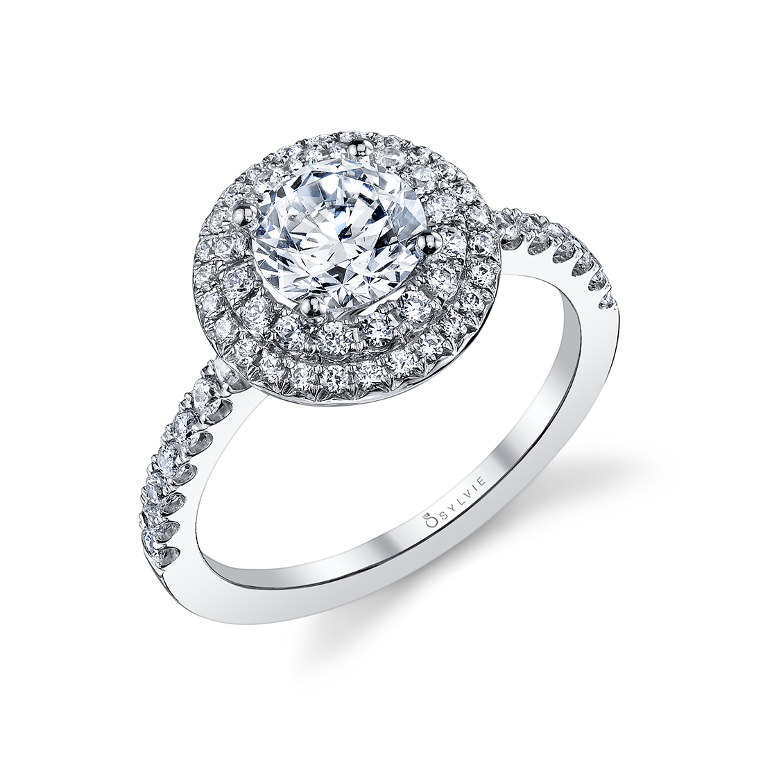 Double Halo Engagement Ring S1086-RB