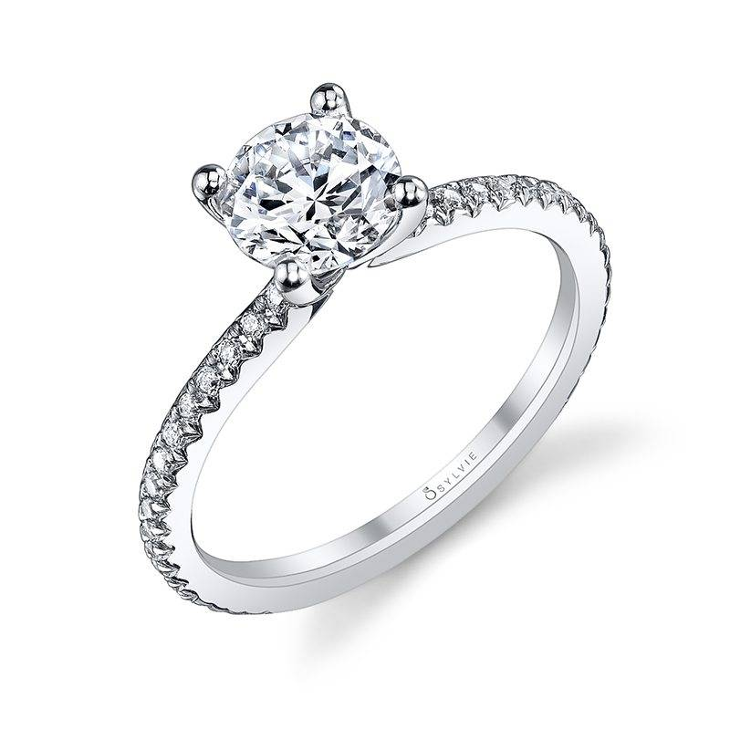Adorlee - Round Solitaire Engagement Ring