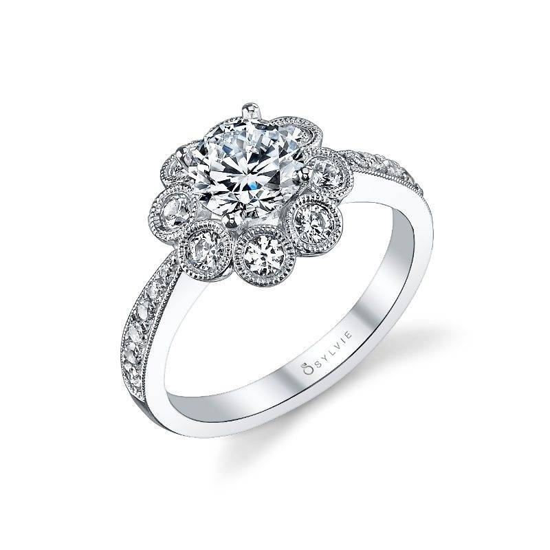 Melina - Floral Inspired Engagement Ring