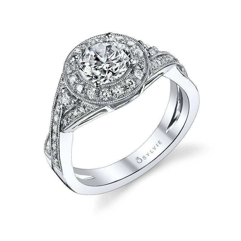 Audree - Vintage Inspired Halo Engagement Ring
