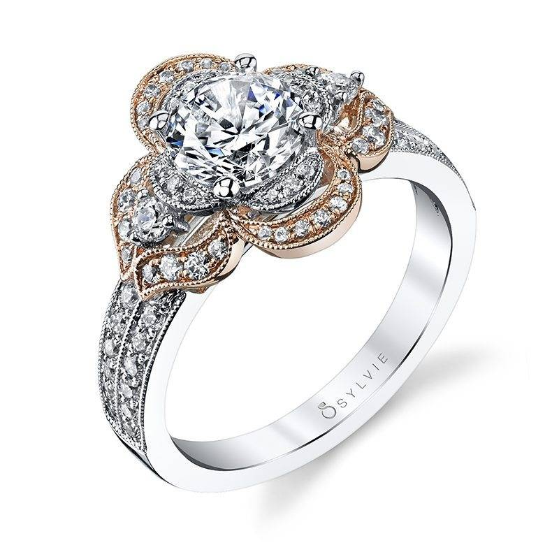 Audra - Flower Inspired Halo Engagement Ring