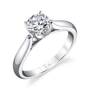 Modern Solitaire Engagement Ring_S1300-019A4R10R