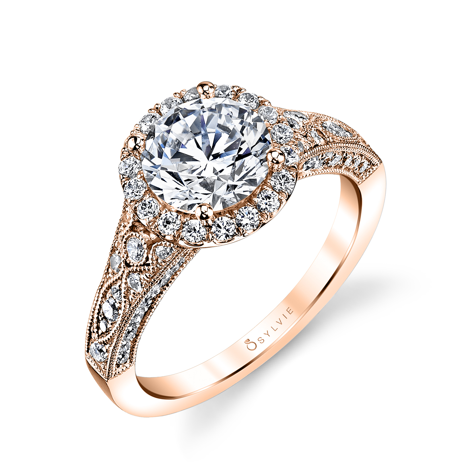Cheri Vintage Inspired Halo Engagement Ring