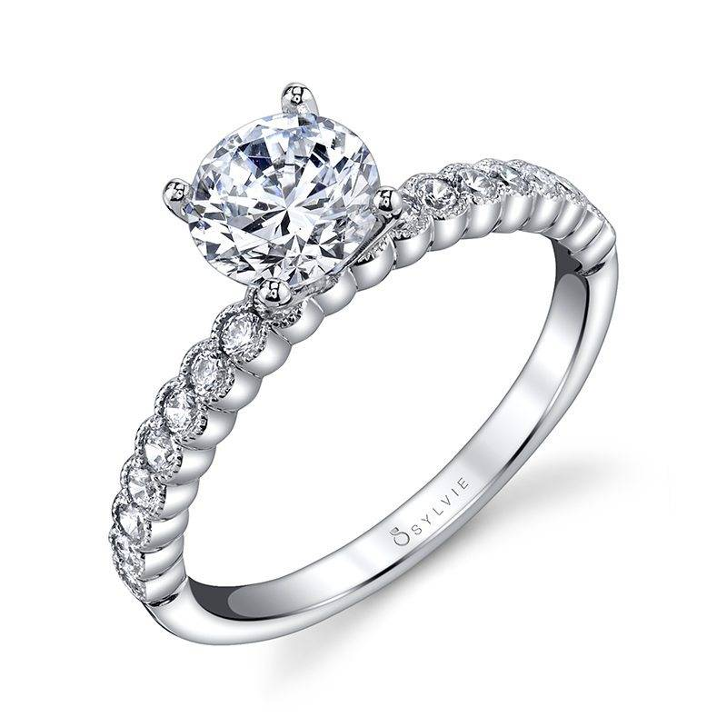 Albertine - Modern Solitaire Engagement Ring
