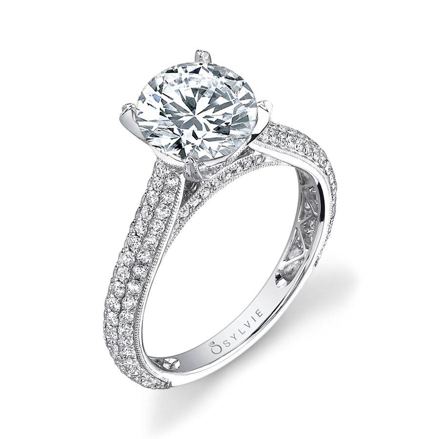 Constance Micro Pave Diamond Engagement Ring