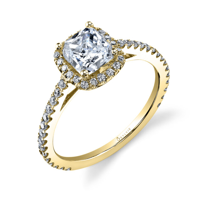 Cushion Cut Engagement Ring with Halo