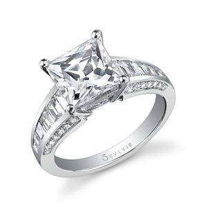 Princess Cut Baquette Engagement Ring_SY561-0119/A4W