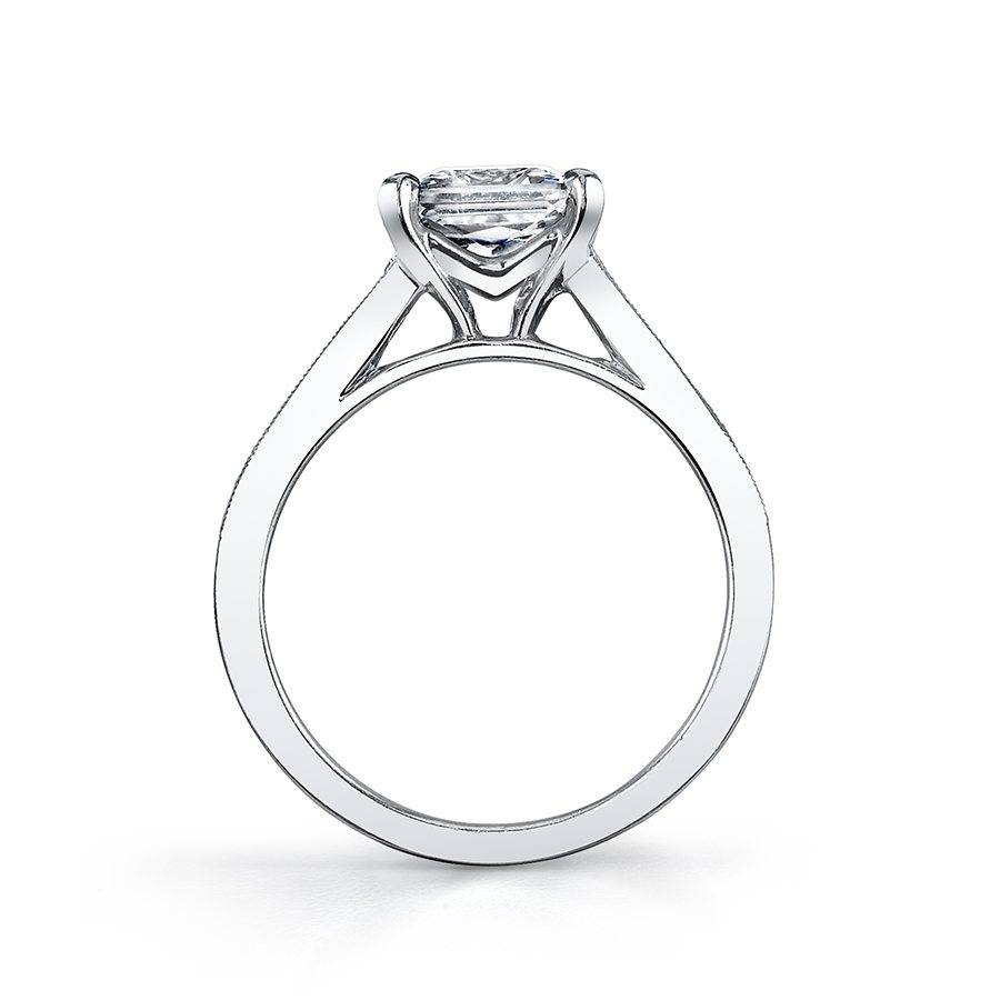 Lilou - Modern Baquette Engagement Ring