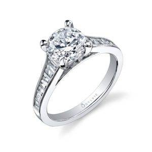 Princess Cut Baquette Engagement Ring_SY711-0067/A4W