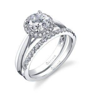 Round Halo Engagement Ring_SY729-0014/A4W