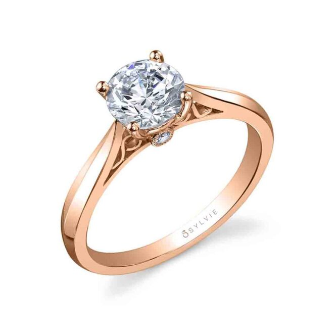 Round High Polish Solitaire Engagement Ring SY904-RG