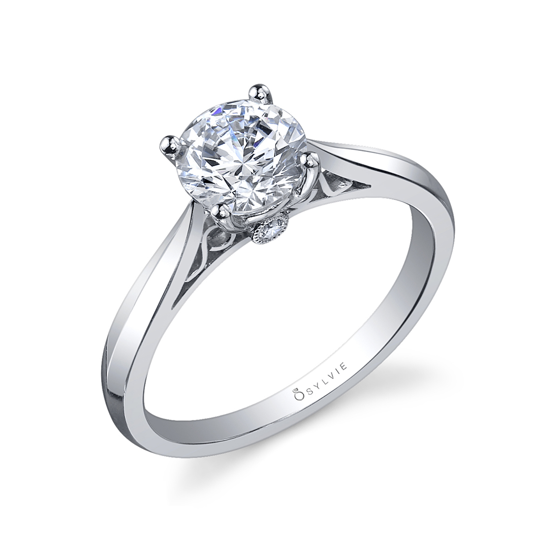 Round High Polish Solitaire Engagement Ring