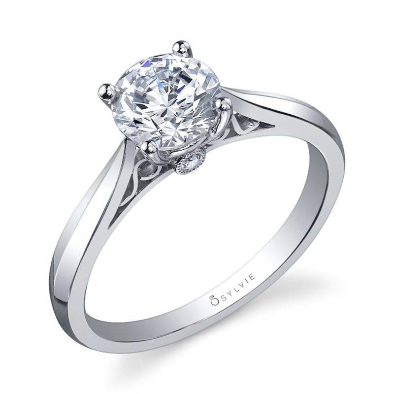 Carina - Round High Polish Solitaire Engagement Ring