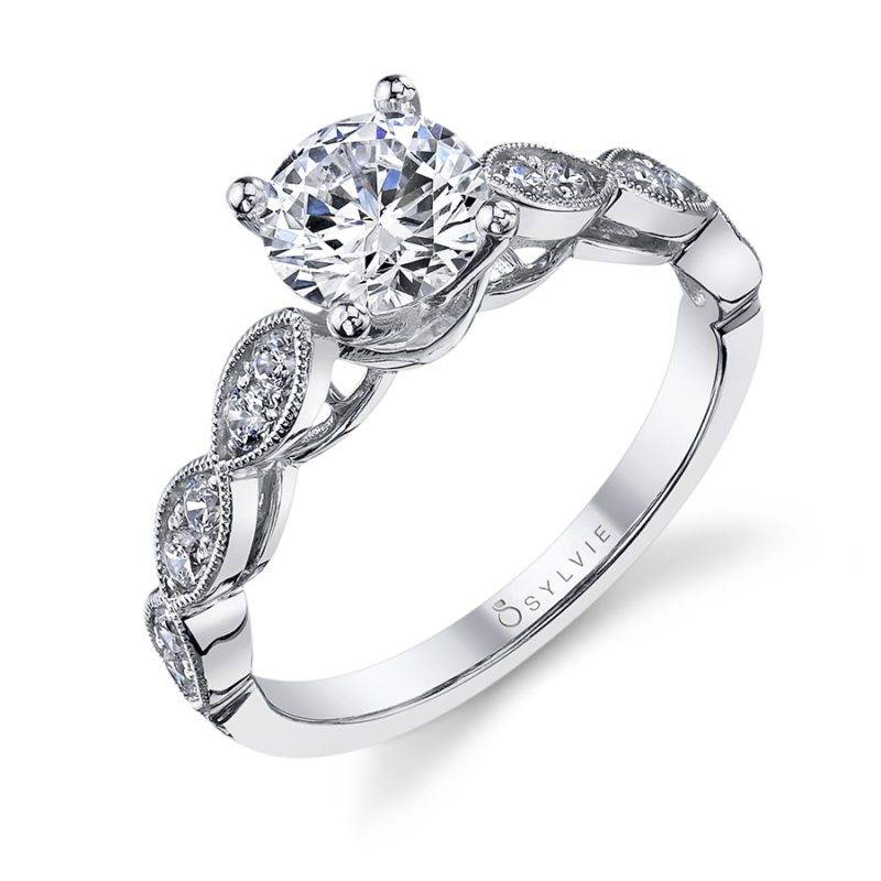 Julienne - Vintage Inspired Round Solitaire Engagement Ring