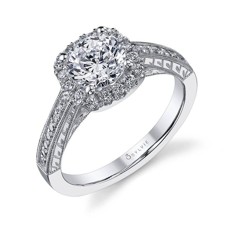 Therese - Round Halo Engagement Ring