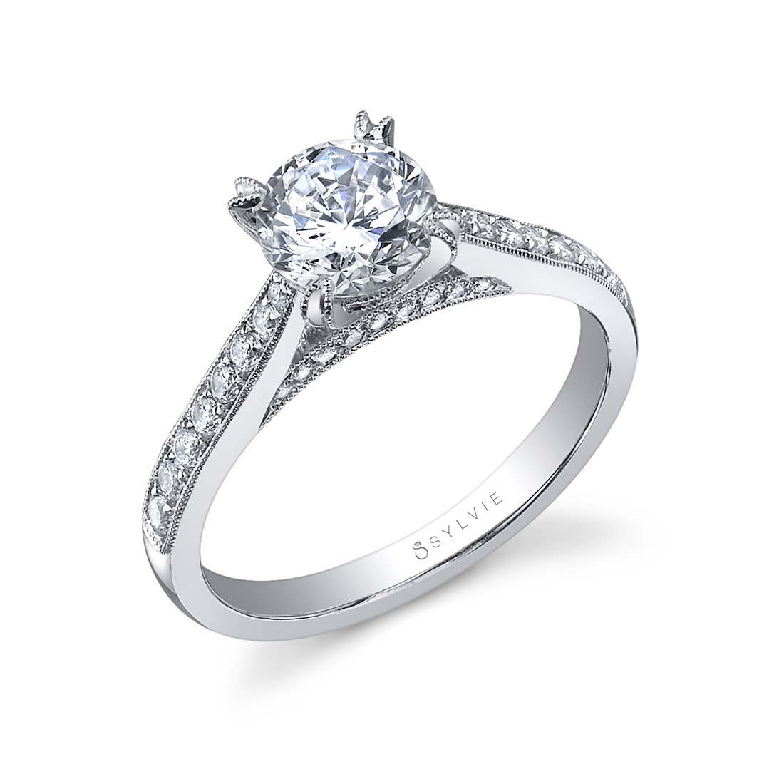 Solitaire Engagement Ring SY808–Sylvie
