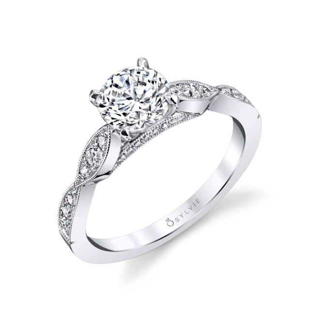 Stackable Engagement Ring S1404–Sylvie