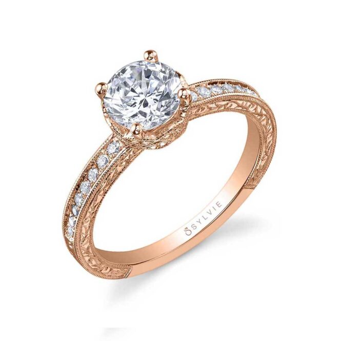 Vintage Inspired Classic Engagement Ring