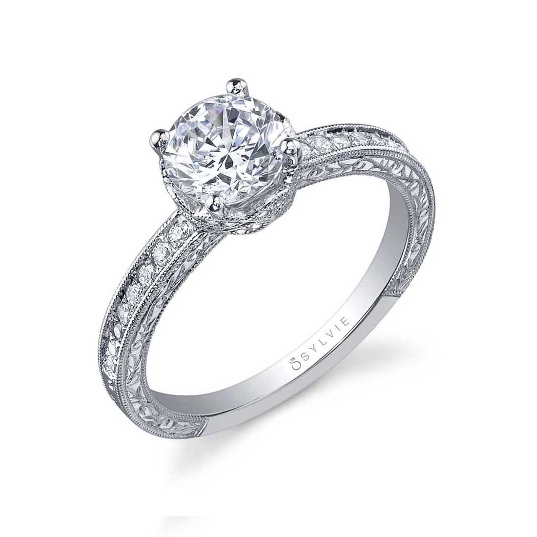Profile Image of a Vintage Inspired Classic Engagement Ring