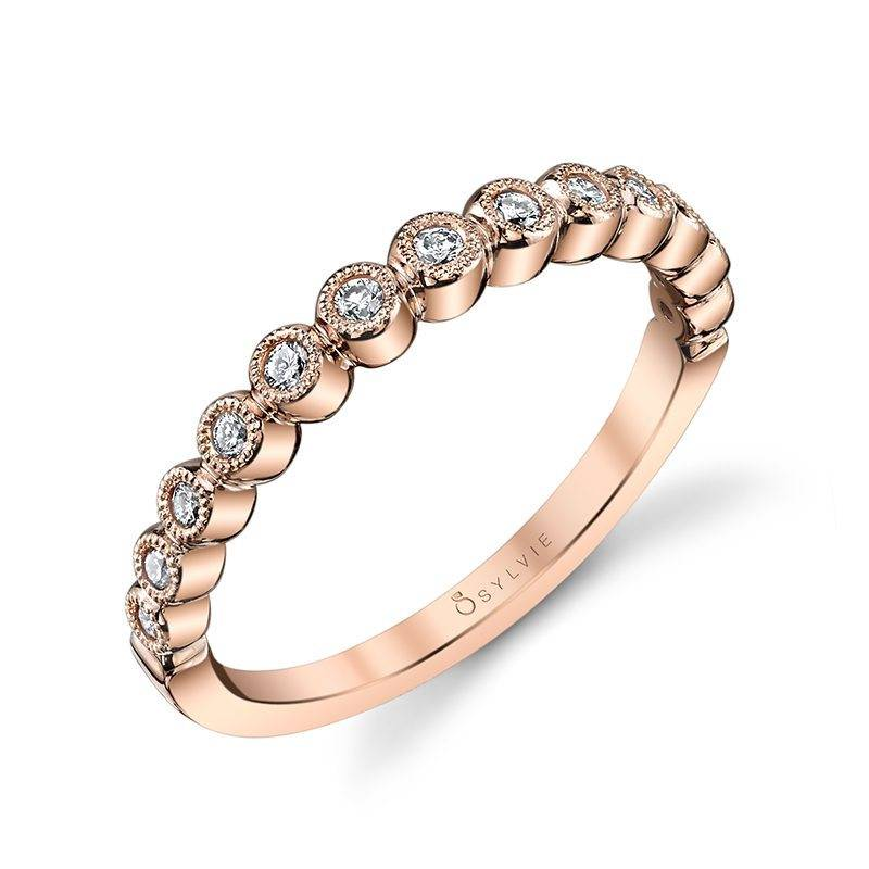 Josephine - Floral Inspired Rose Gold Wedding Band