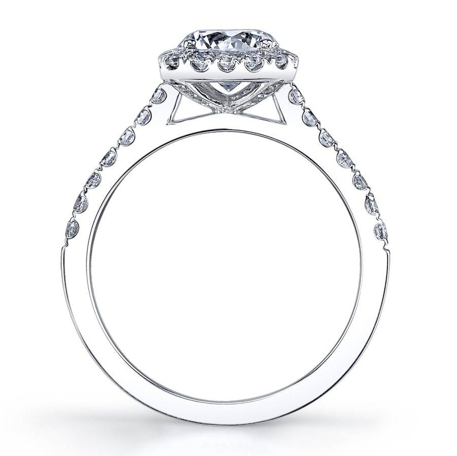 Emma -Pear Shaped Engagement Ring with Halo