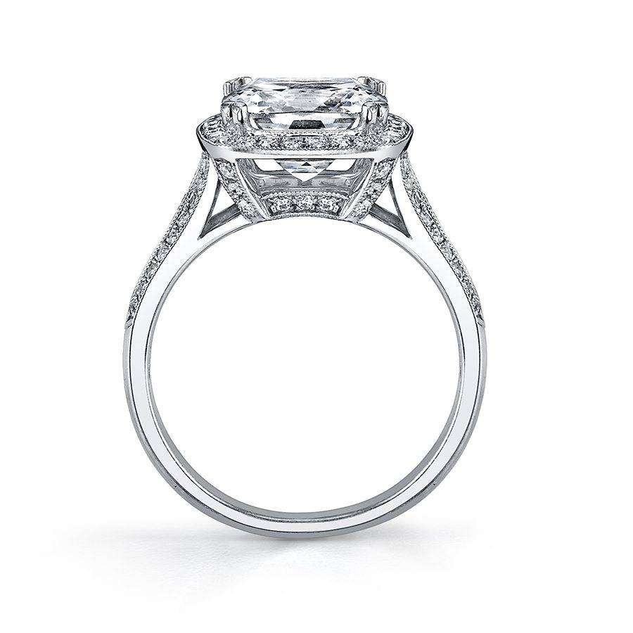 l233a vintage inspired cushion cut halo engagement ring