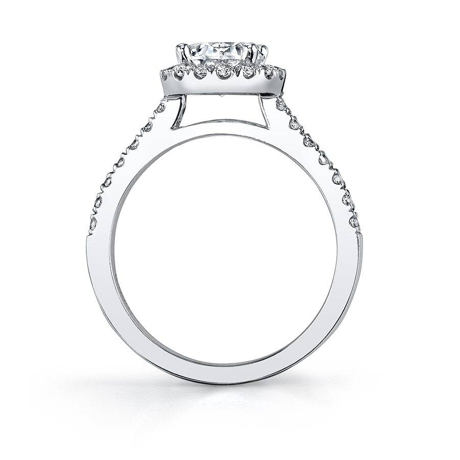 Ambre - Pear Shaped Halo Engagement Ring